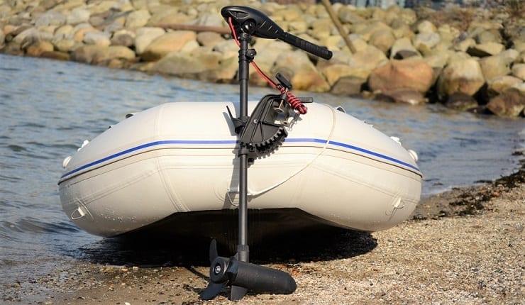 Electric Trolling Motor On Boat