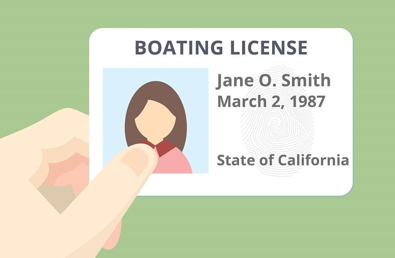 Illustration Of Boating Licence