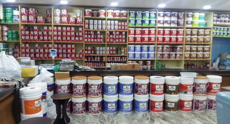 Cans Of Paint In Shop